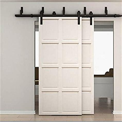 Interior Bypass Doors 6ft Bypass Sliding Barn Wood Door Hardware Interior Sliding Door Black Rustic