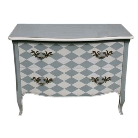 Grey Chest Drawers by Grey And White Patterned 2 Drawer Chest Of Drawers