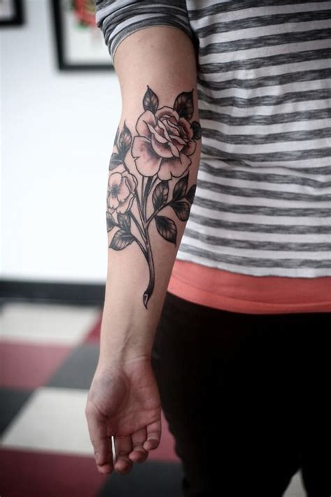 rose forearm tattoo best tattoo design ideas