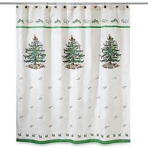 Tree Shower Curtain Bed Bath And Beyond christmas tree jacquard shower curtain www bedbathandbeyond com