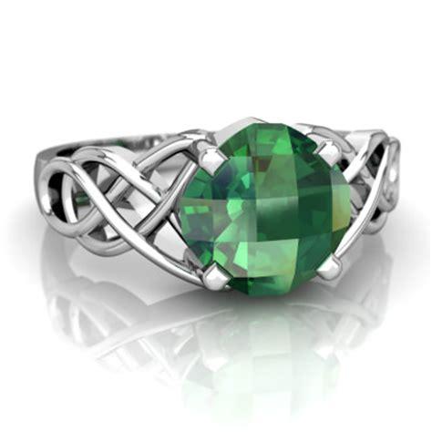 lab emerald celtic knot ring r5000 wcemr