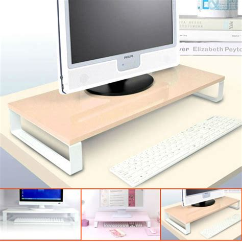 for monitor and keyboard glass lcd monitor stand desktop