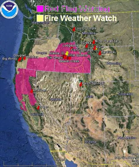 map of oregon fires now flag warnings and smoke map august 20 2013