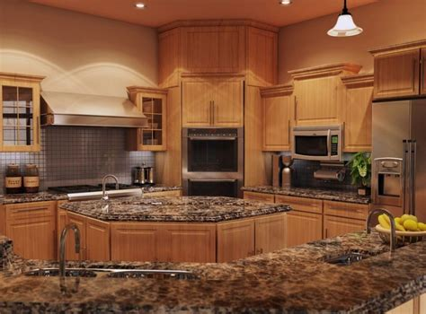 Countertops For Oak Cabinets by Best 25 Light Oak Cabinets With Granite Ideas On