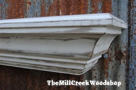 60 Inch Floating Mantel Shelf by Wall Shelf 60 Quot Distressed Wood Fireplace Mantel Crown