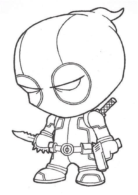 deadpool coloring pages chibi coloringstar