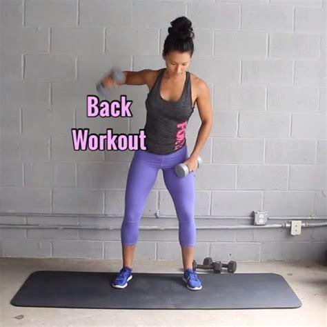 best 25 dumbbell back workout ideas on