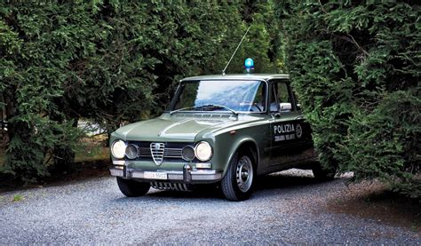 polizia volante 1966 alfa romeo giulia polizia squadra volante