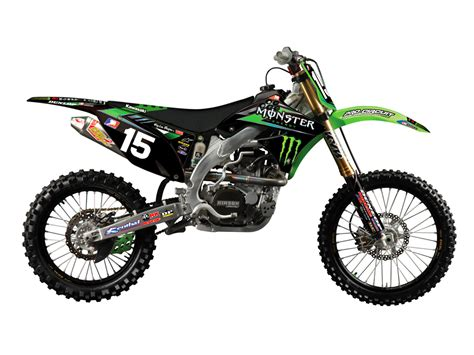 Monster Aufkleber Kawasaki by N Style Dekor Kit Pro Circuit Monster Energy Black Modell