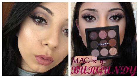 Eyeshadow X9 Mac mac x 9 burgundy palette w 2 lip options tutorial