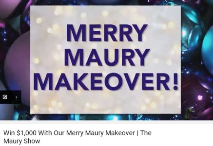 the merry maury makeover 1 000 cash sweepstakes win 1 000 dollars - 1000 Dollar Sweepstakes