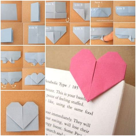 Decorating Home Ideas On A Budget by Diy Origami Heart Shaped Bookmark