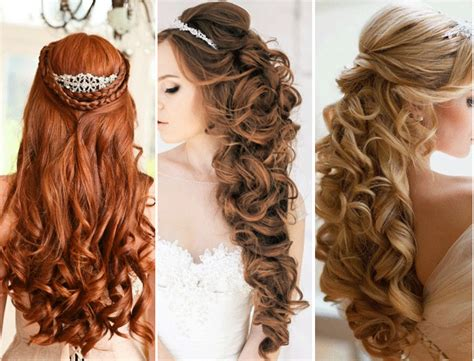 cute half up half down hairstyles for naturally curly hair top 4 half up half down wedding hairstyles