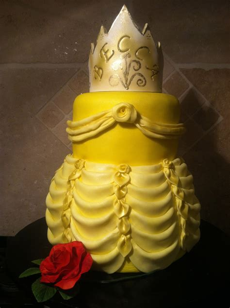 Yellow Möbel by S Dress And The Beast Birthday Cake