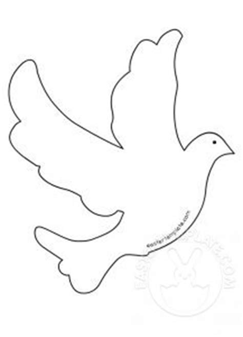 Easter Template Have Fun With Free Printables Easter Templates Dove Template To Print