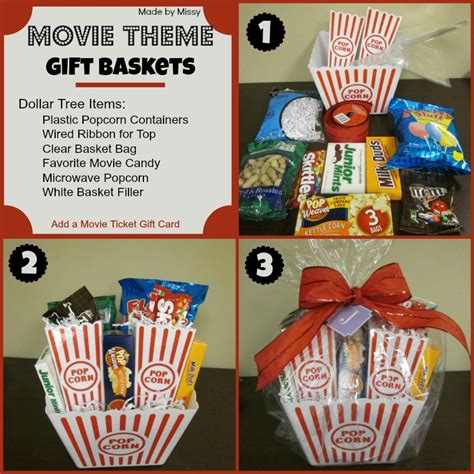 themed gifts for family movie theme gift basket using dollar tree items with