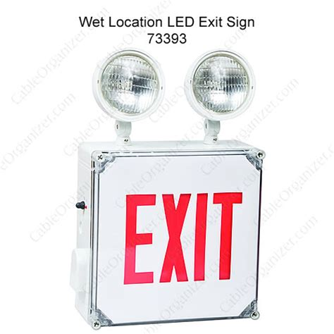 wet location emergency exit light wet location led exit sign 73393 icon