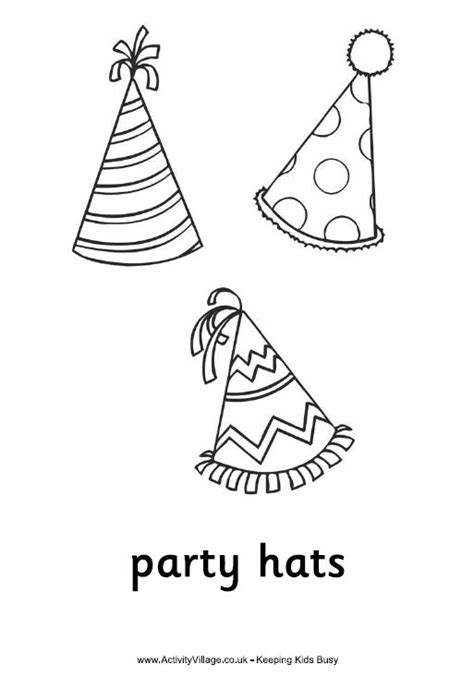 coloring page party hat 129 best images about coloring b day s parties more on