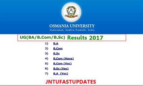 Mba 2nd Sem Results 2017 Ou by Ou Degree Results 2017 Released Manabadi Osmania