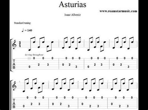tutorial asturias guitar asturias youtube