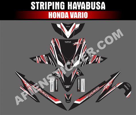 Sticker Striping Motor Stiker Honda Vario Fi Ducati Stoner Spec A striping motor vario lama hayabusa line apien sticker