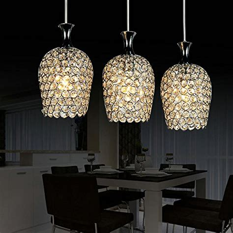 crystal pendant lighting for kitchen dinggu modern 3 lights crystal pendant lighting for