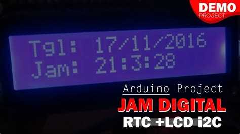 Kelas Robot jam digital arduino rtc ds1302 dan lcd 16x2 i2c kelas