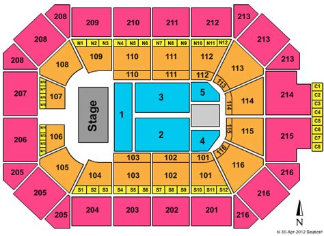 allstate arena seating chart allstate arena tickets and schedule