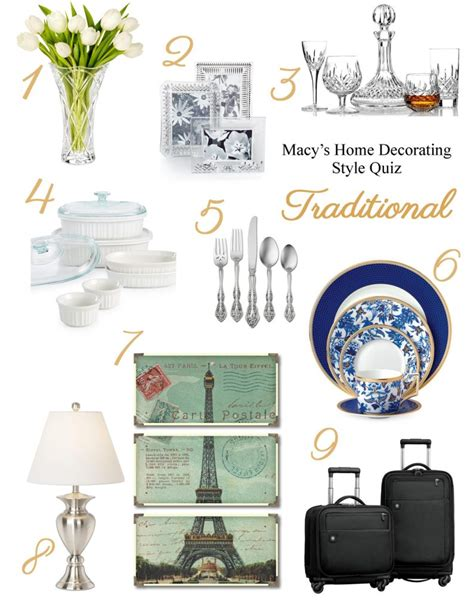 home decor style quiz what s your registry style macy s home decorating quiz