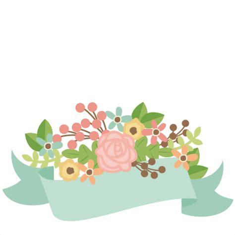design banner cute banner with flowers svg scrapbook cut file cute clipart
