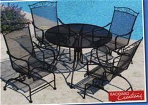 Backyard Creations Wrought Iron Backyard Creations 174 Wrought Iron Glider From Menards 129