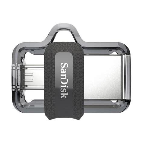 Sandisk Dual Drive M3 0 Otg 32gb jual sandisk m3 0 ultra dual usb drive otg 32 gb usb 3 0