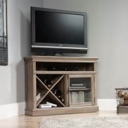 corner tv stands barrister corner tv stand 414729 sauder