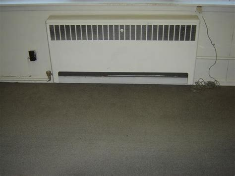 three baseboard heating rads for hot water or steam heat