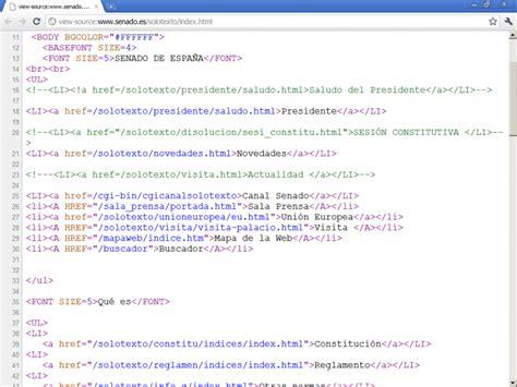 imagenes html codigo accesibilidad web senado de espa 241 a 1