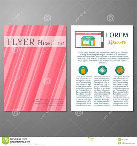 flyer layout maker template for flyer or booklet online shopping stock v on
