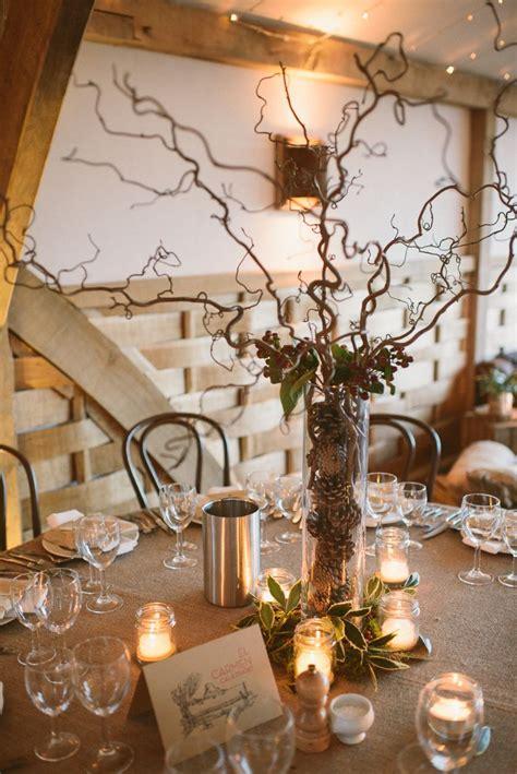 rustic winter wedding  cripps barn  diy home