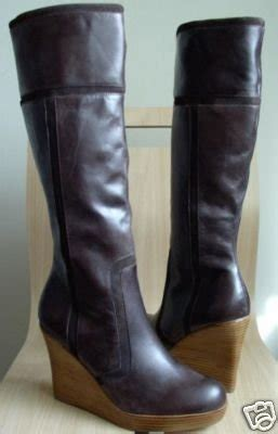 steve madden mavie wedge boots brown leather 10