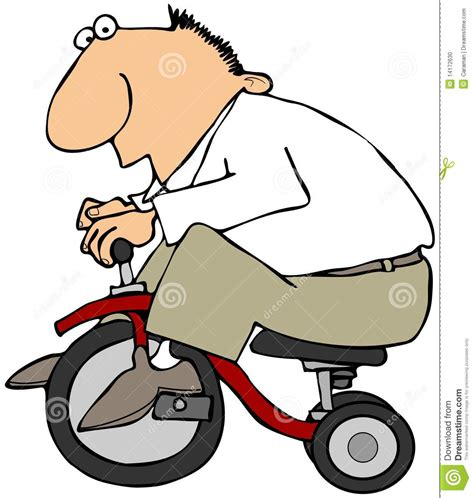 Cartoon Wall Murals man on a tricycle stock photo image 14172630