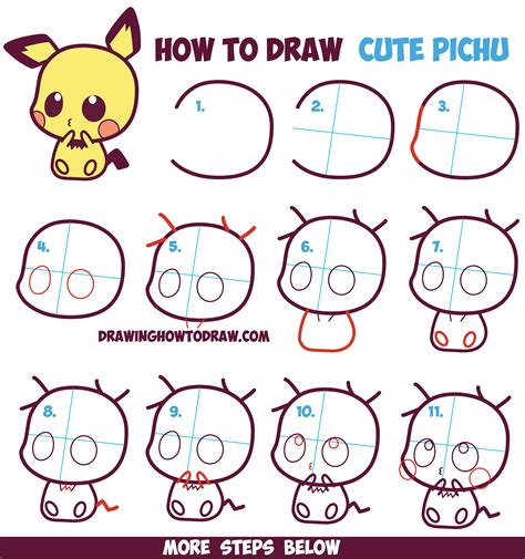 drawing chibi supercute characters easy for beginners anime learn how to draw chibis in animal onesies with their kawaii pets drawing for volume 19 books how to draw kawaii chibi pichu from in