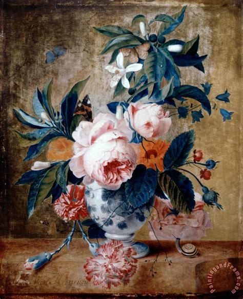 Van Gogh Flowers In Vase Michiel Van Huysum A Delft Vase With Flowers Painting A