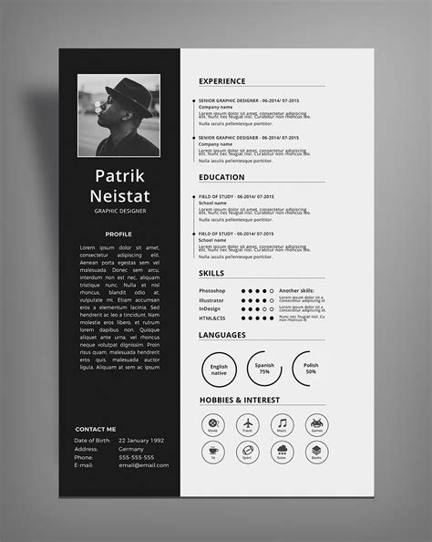 Resume Design Templates Psd Free Simple Resume Cv Design Template Free Psd File Resume