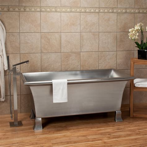 steel bathtubs signature hardware 64 quot kendara rectangular stainless steel