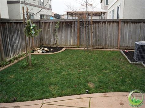 backyard with a concrete patio in fairfield california