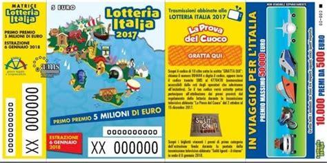 estrazione lotteria italia premi di consolazione estrazione lotteria italia 2018 biglietti vincenti