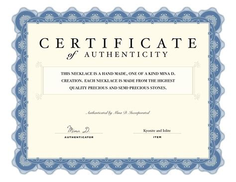 certificate of authenticity templates certificate of authenticity stories