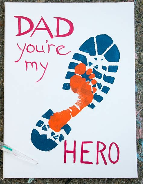 fathers day footprint boot and footprint for s day