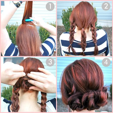 how to do a bun with a braid around it diy quick braided bun tutorial pictures photos and