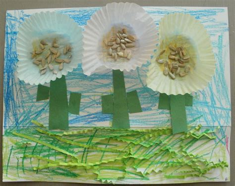 gardening crafts for preschoolers learning cupcake liner garden theme craft