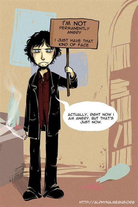 angry black books bernard black by alphyna on deviantart